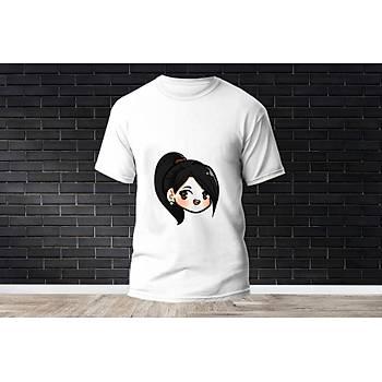 Sage Baskýlý Model 3  T-Shirt