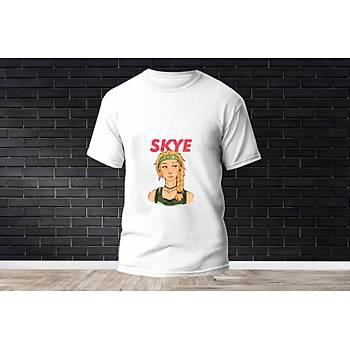 Skye Baskýlý Model 4  T-Shirt