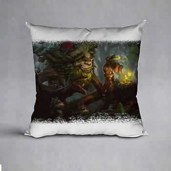 League Of Legends Ivern Baskýlý Yastýk (ELYAF DOLGULU)