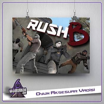 CSGO : Rush B Poster