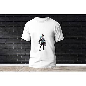 Sage Baskýlý Model 6  T-Shirt