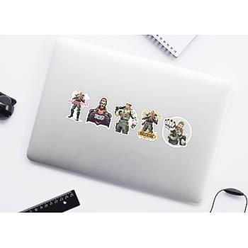 Valorant: Breach 5'li  Set Halinde Yapýþkanlý Sticker (Laptop ve Telefon Uyumlu)