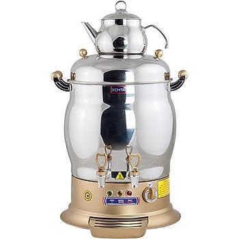Remta Gold Maksi Çift Demlikli Çay Makinesi Semaver