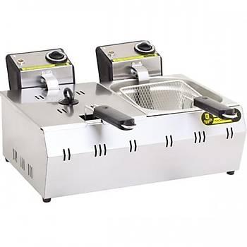 Remta 5+5 Litre Elektrikli Fritöz Makinesi