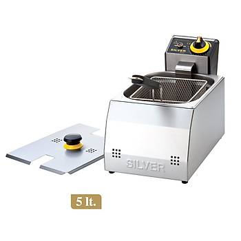 Silver 5 Litre Elektrikli Fritöz Makinesi
