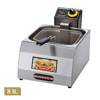 Silver 8 Litre Elektrikli Fritöz Makinesi