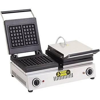 Remta Çiftli Kare Waffle Makinesi