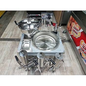 lokma machine and cooker with gas + 3 chocolate pump