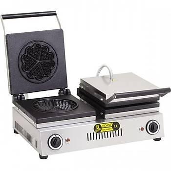 Remta Çiftli Waffle Yonca 16 cm Çap Makinesi