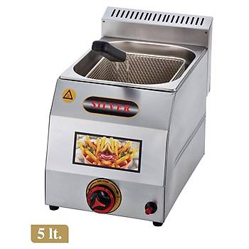 Silver 5 Litre Tüplü Fritöz Makinesi