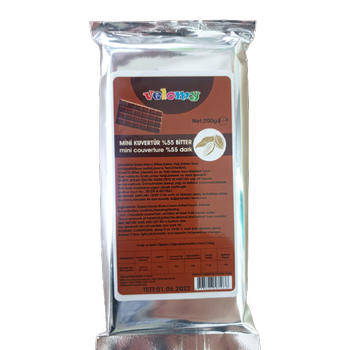 Kuvertür Mini Çikolata Bitter 200 gr