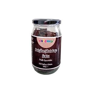 Velomy 200 Gr Belçika Çikolatasý Sütlü Çikolata Cam Kavanoz