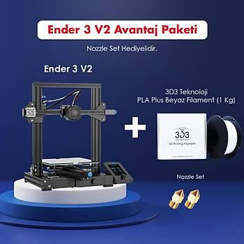 Creality Ender 3 v2 Avantaj Paketi (Nozzle Set Hediyeli)