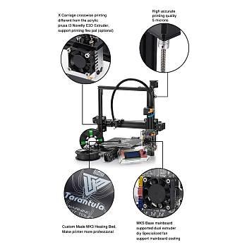 Tevo Tarantula - 3D Yazıcı Demonte Kit, Büyük Boy