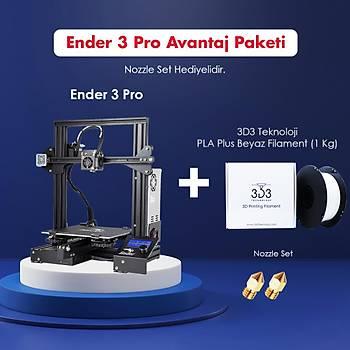 Creality Ender 3 Pro Avantaj Paketi (Nozzle Set Hediyeli)