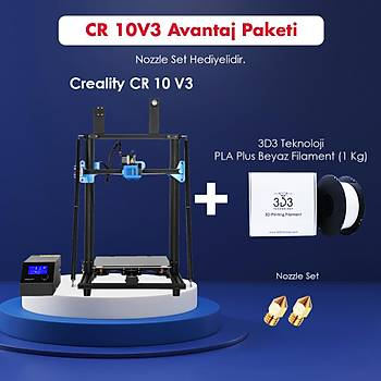 Creality CR 10 V3 Avantaj Paketi (Nozzle Set Hediyeli)