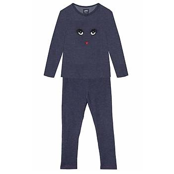 Kýz Çocuk Organik  Pijama Takýmý