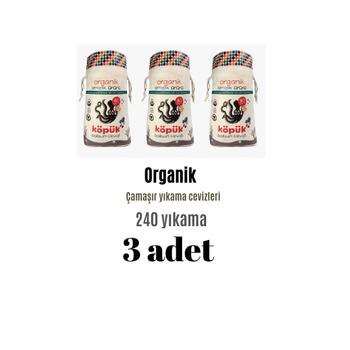 3 Paket-240 yýkama Sabun Cevizi- Çamaþýr- Organik Çamaþýr- Bulaþýk Yýkama
