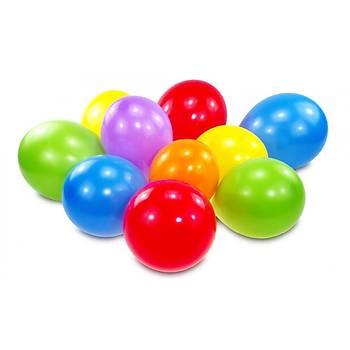 Karýþýk Renk Balon, 10 Adet