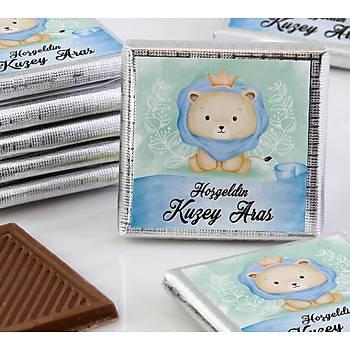 Erkek Bebek Dökme Çikolata - Aslan