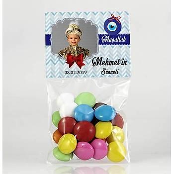 Bonibon Çikolata - Fotoðraflý Mavi Temalý - Sünnet