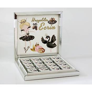 Kýz Bebek Çikolatasý - Kutulu - Siyah Balerin