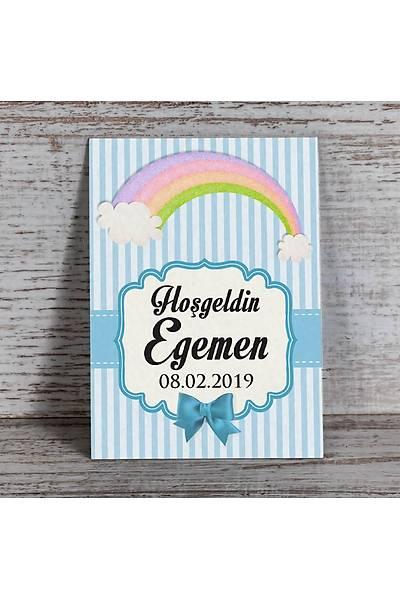 Mavi Temalý Magnet - Gökkuþaðý-Bulut - 8 Adet