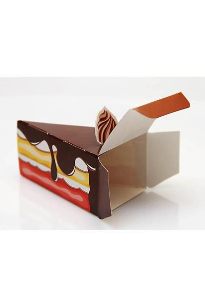 Çikolatalý Pasta Dilimi Þeker Kutusu