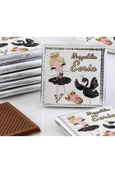 Kýz Bebek Dökme Çikolata - Siyah Balerin