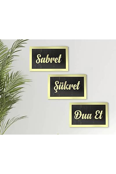 Sabret, Þükret, DuaEt 3'lü Tablo Seti - Altýn