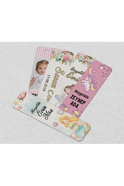 Dik Karton Etiket - 36 adet - Kýz Bebek