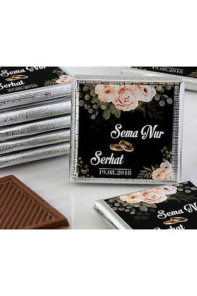 Söz-Niþan Dökme Çikolata - Güllü Siyah Tema