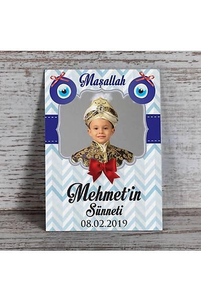 Mavi Temalý Fotoðraflý Magnet - Sünnet - 8 Adet