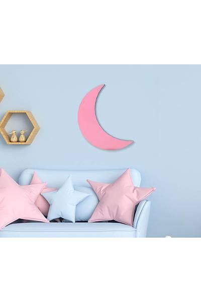 Dekoratif Büyük Ay - Pembe