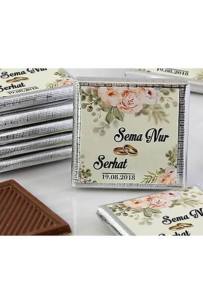 Söz-Niþan Çikolatasý - Kutulu - Güllü Beyaz Tema