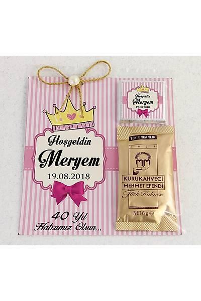 Ýnci Detaylý Kahve ve Çikolatalý Kýz Bebek Hediyesi - Prenses