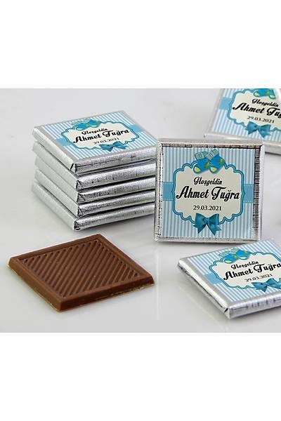 Erkek Bebek Çikolatasý - Kutulu - Patik