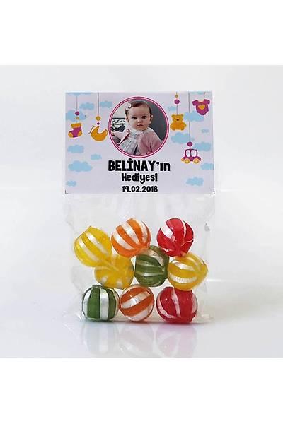 Meyveli Bebek Þekeri - Fotoðraflý Pembe Temalý Oyuncaklý