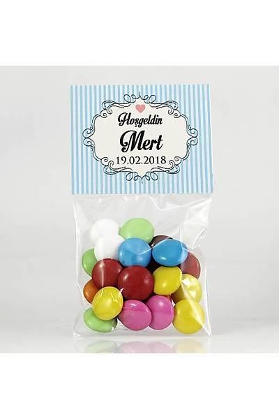 Bonibon Çikolata - Mavi Temalý - Çerçeveli