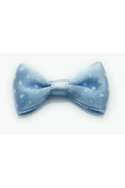 Mavi Fiyonk - Puantiyeli - 2cm