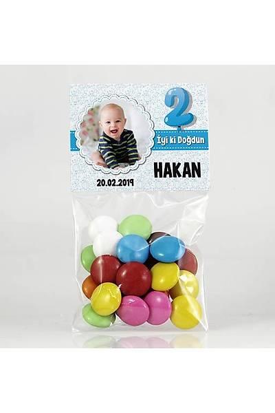 Bonibon Çikolata - Fotoðraflý Mavi Temalý Doðum Günü - Balon