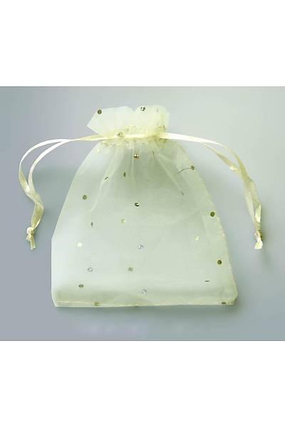 Organze Tül Kese, 12 x 14 cm, Beyaz