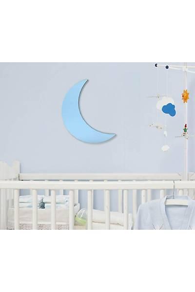 Dekoratif Büyük Ay - Mavi