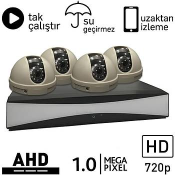 OEM 5010 AHD 4 Kameralý 1.0mp Paket - P173