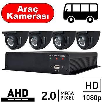 BEGAS 4 Araç Kameralý AHD Paket 2.0mp - A100