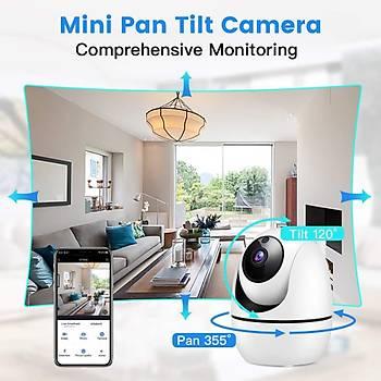 360 Pantilt Hareketli IP Wifi Kamera 2mp Full HD 1080P