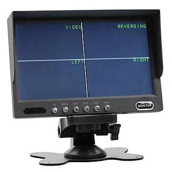 7'' inch CCTV QUAD Monitör (4 Giriþli)