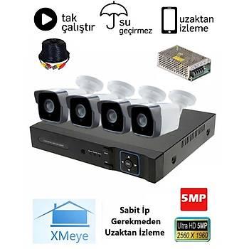 Oem 4 Kameralý 5.0mp AHD Eco Paket Kamera Sistemi - P504
