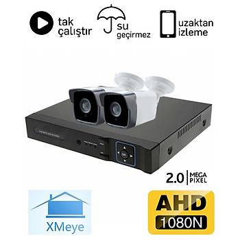Oem 2 Kameralý 2.0mp AHD Eco Paket Kamera Sistemi - P202