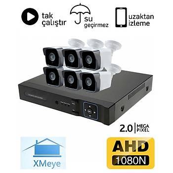 Oem 6 Kameralý 2.0mp AHD Eco Paket Kamera Sistemi - P206